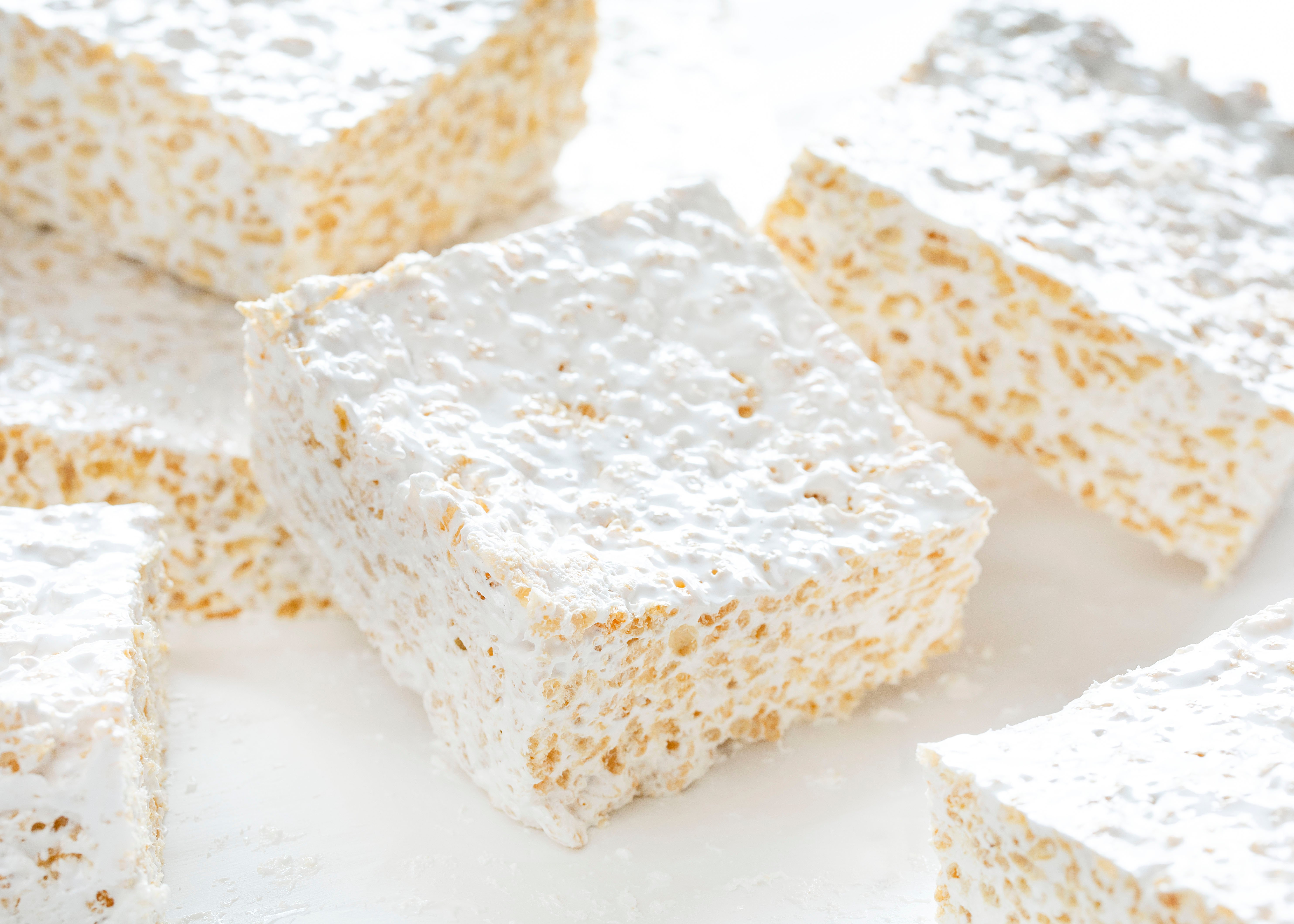 Rice Krispy Bars with Homemade Marshmallow Recipe
