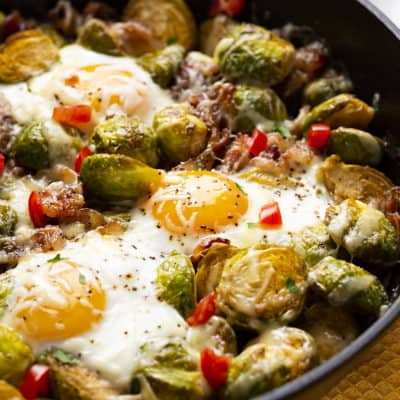 Brussel Sprouts Breakfast Bake