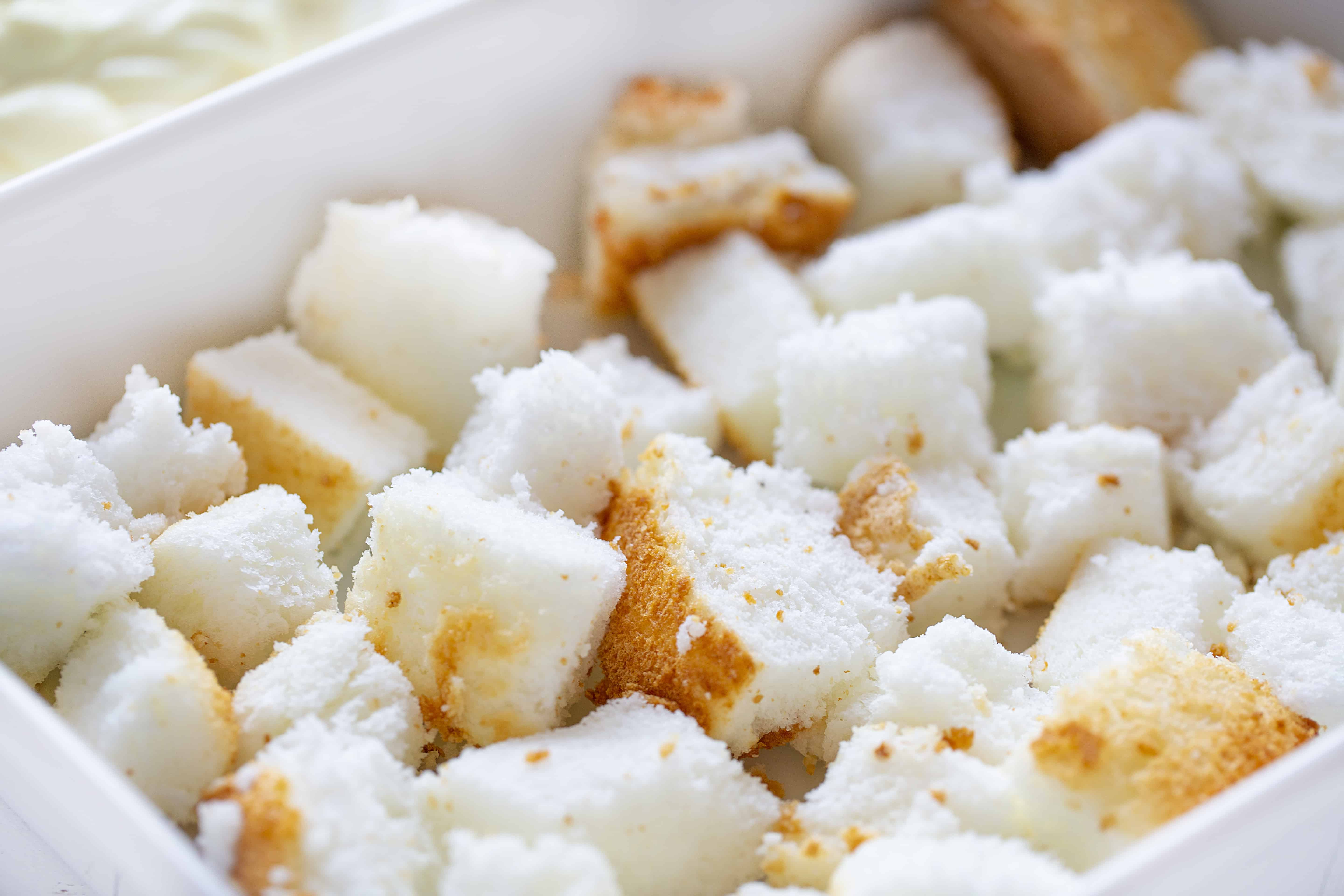 Angel Food Cake Cubes