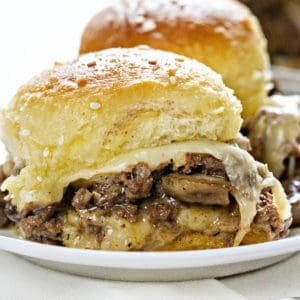 Mushroom Swiss Cheeseburger Slider