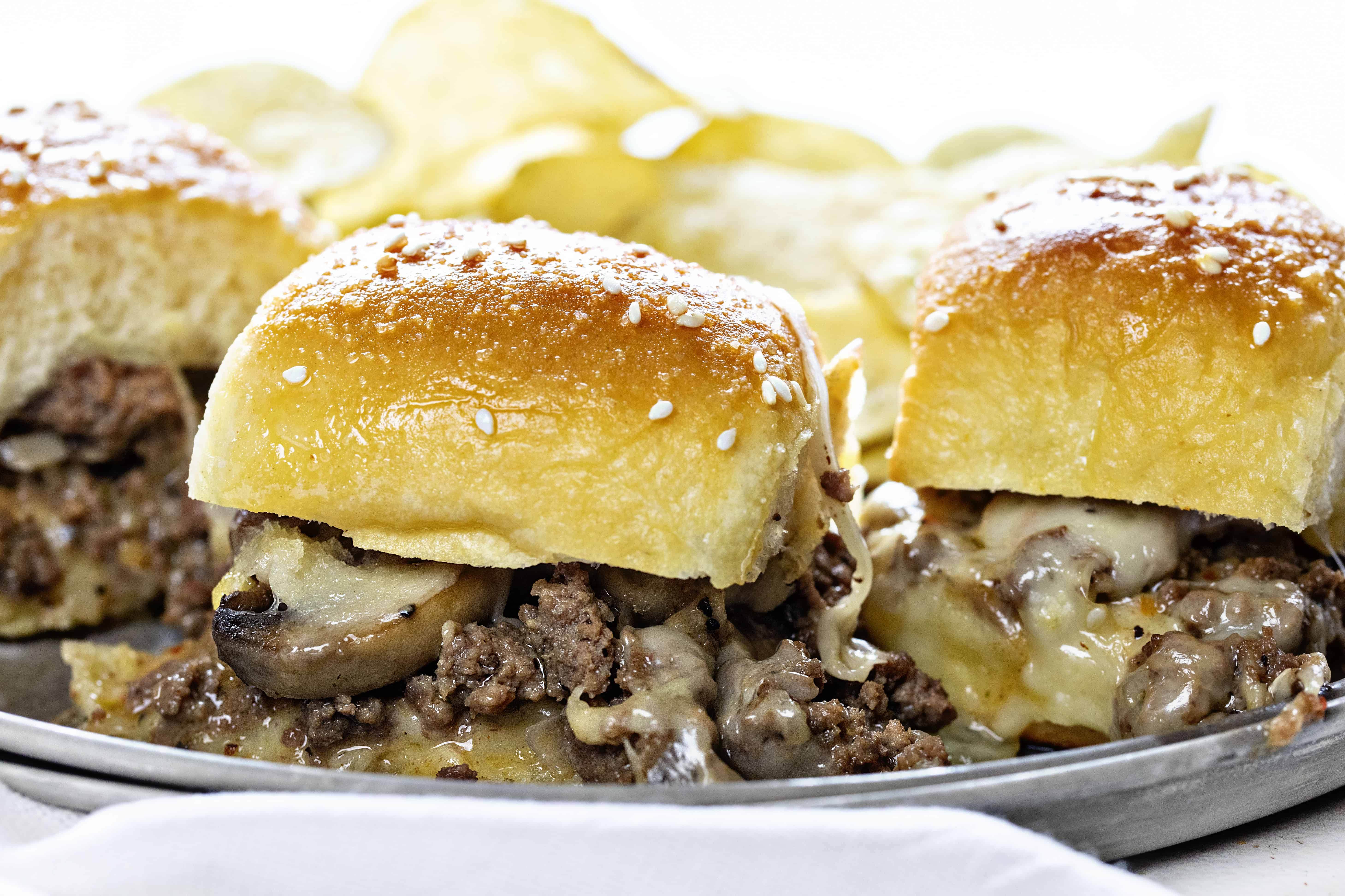 The Best Mushroom Swiss Slider Recipe