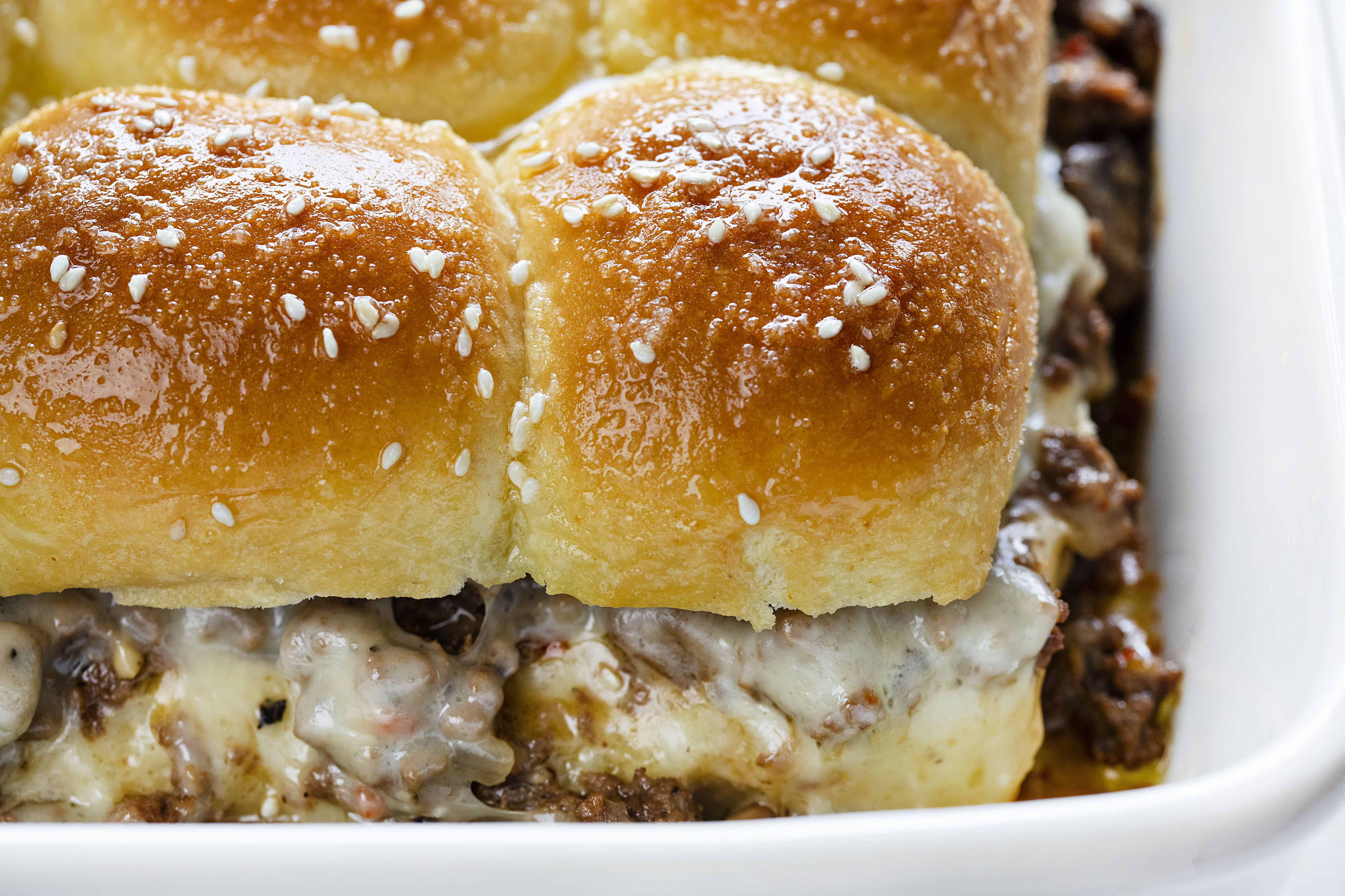 Mushroom and Swiss Sliders