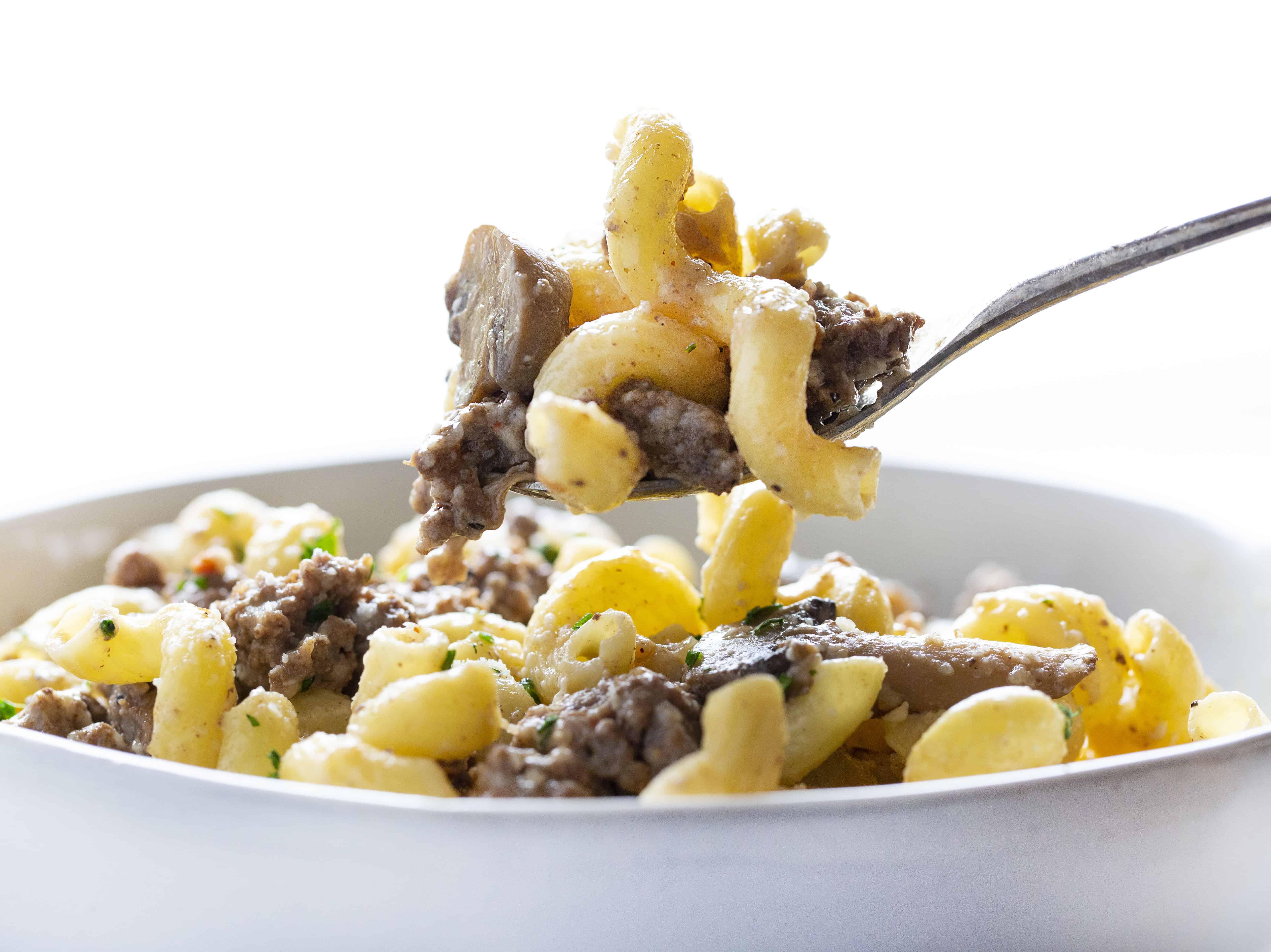 Gourmet Mushroom Swiss Pasta