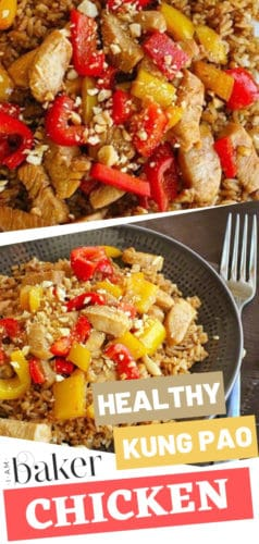 A healthy homemade Kung Pao Chicken that is easy to do! Not only would you love the flavor, but you will also love that it is a heart-healthy meal. This healthy choice Kung Pao Chicken is perfect to be served with rice. Try this healthy chicken recipe!