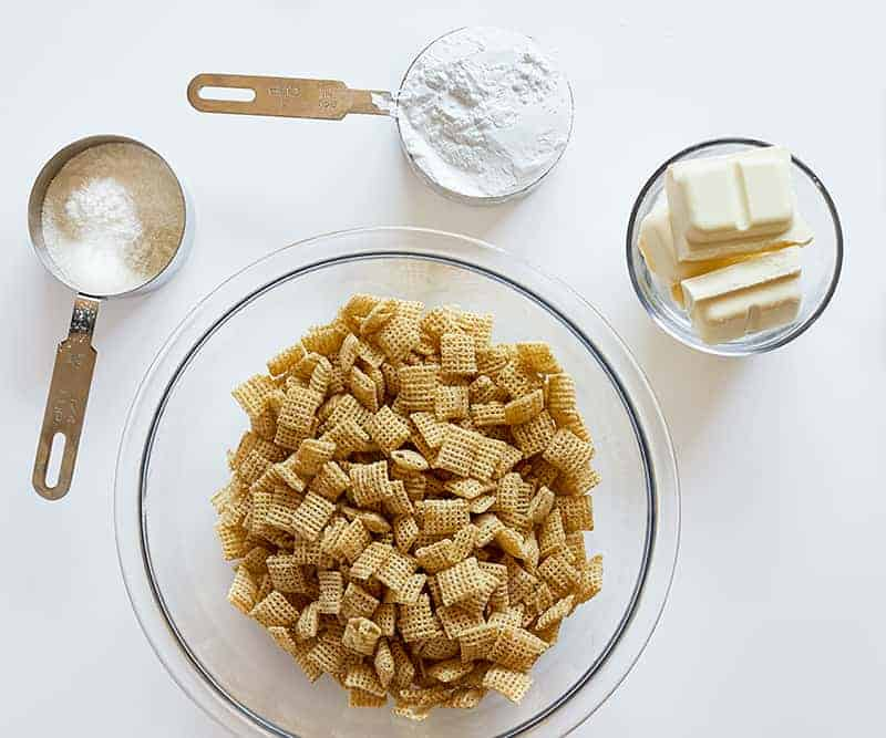 Ingredients for Banana Pudding Puppy Chow