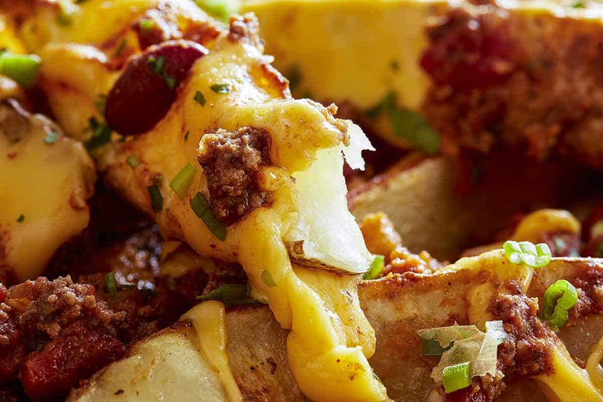 Close-up of Chili Cheese Fries