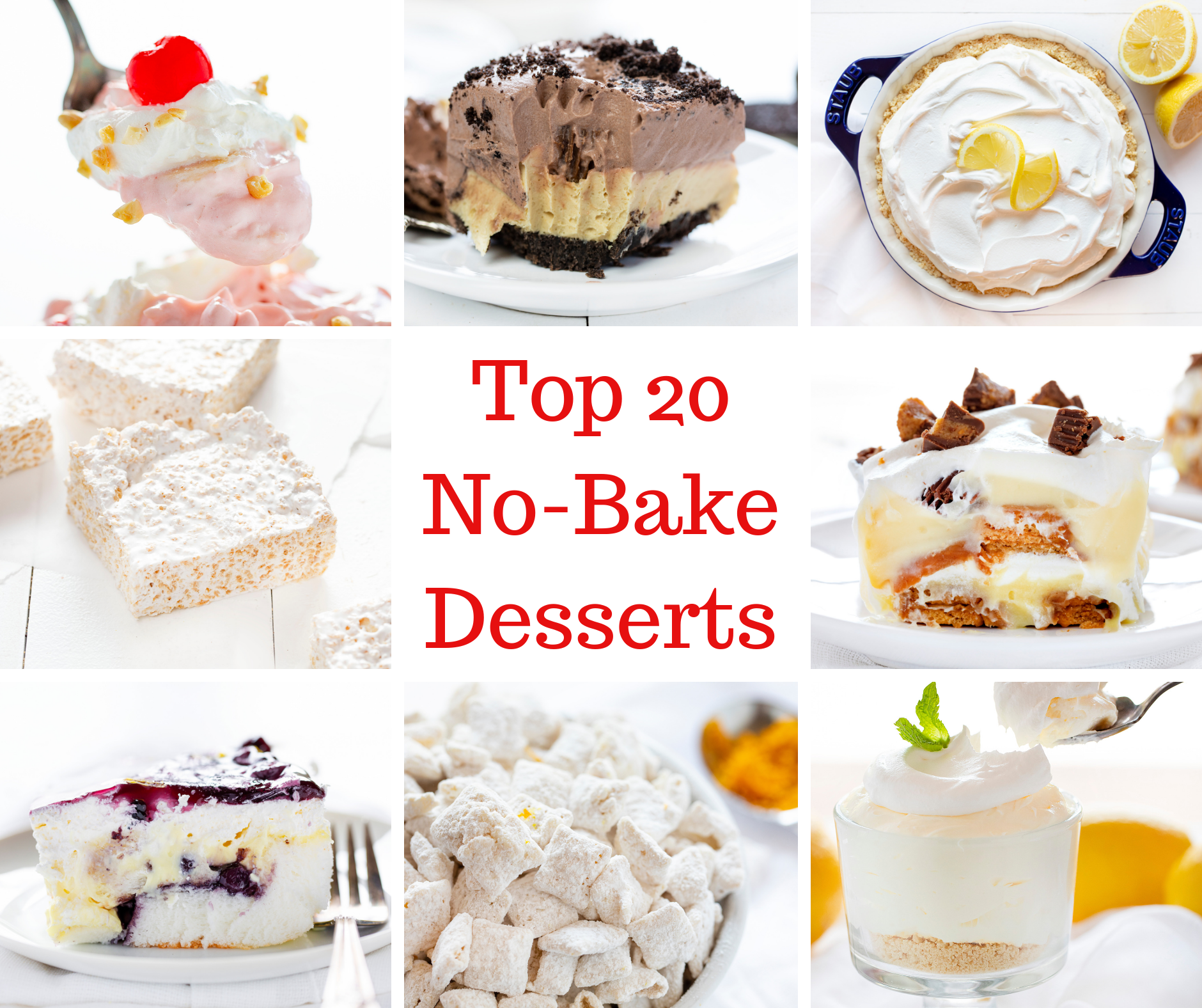 Top 20 No Bake Desserts