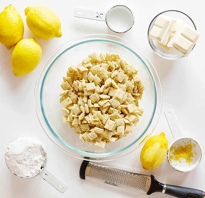 Ingredients for Lemon Puppy Chow
