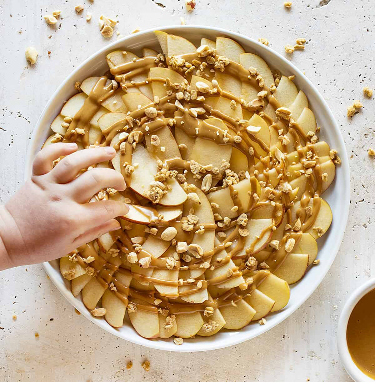 Apple and Peanut Butter Nachos