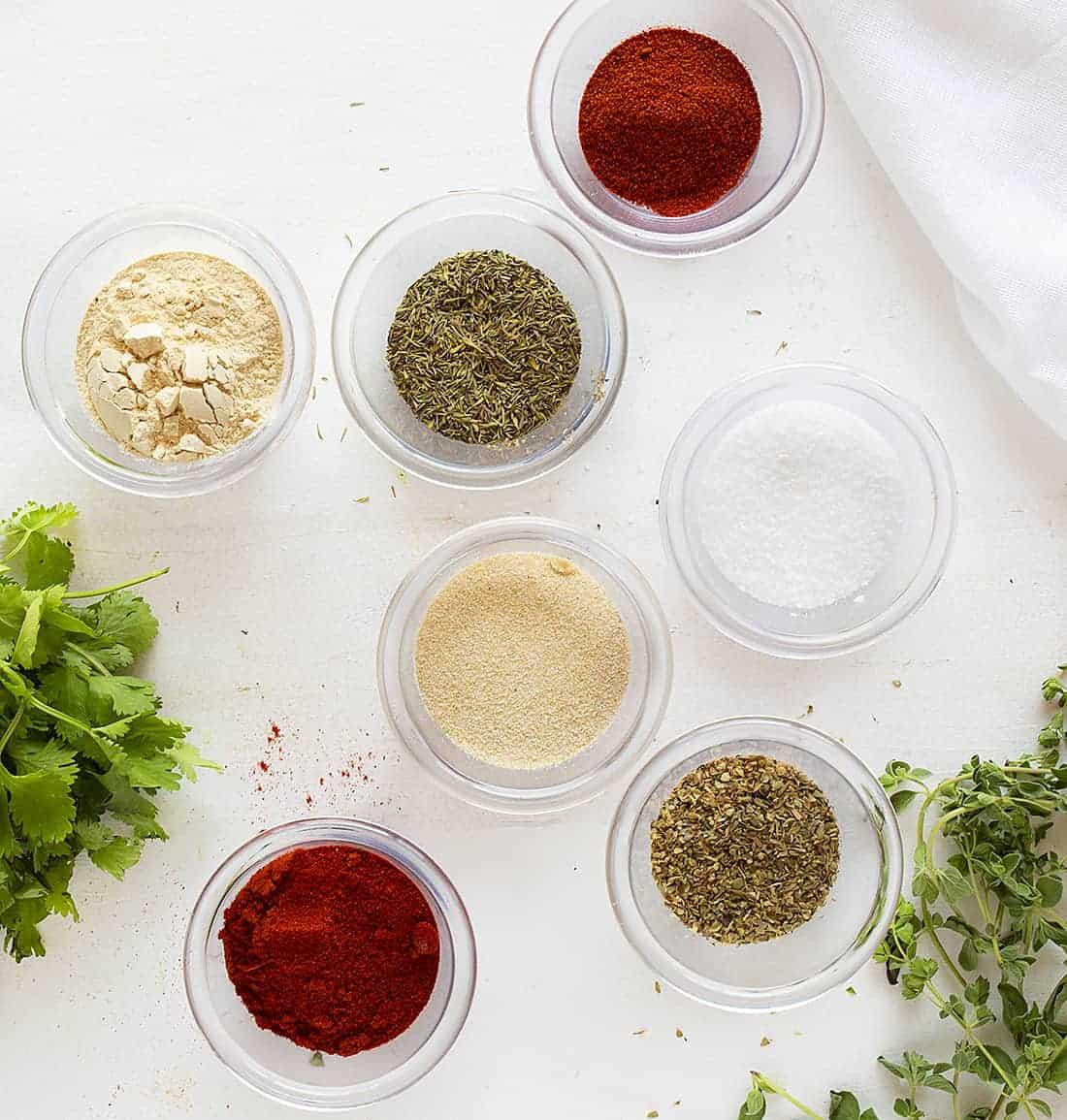 Individual Spices for Cajun Seasoning Recipe