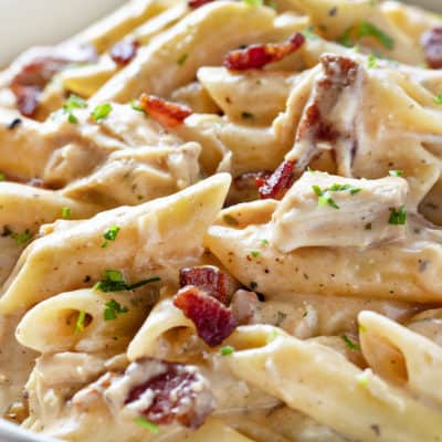 Cheesy Chicken Ranch Pasta