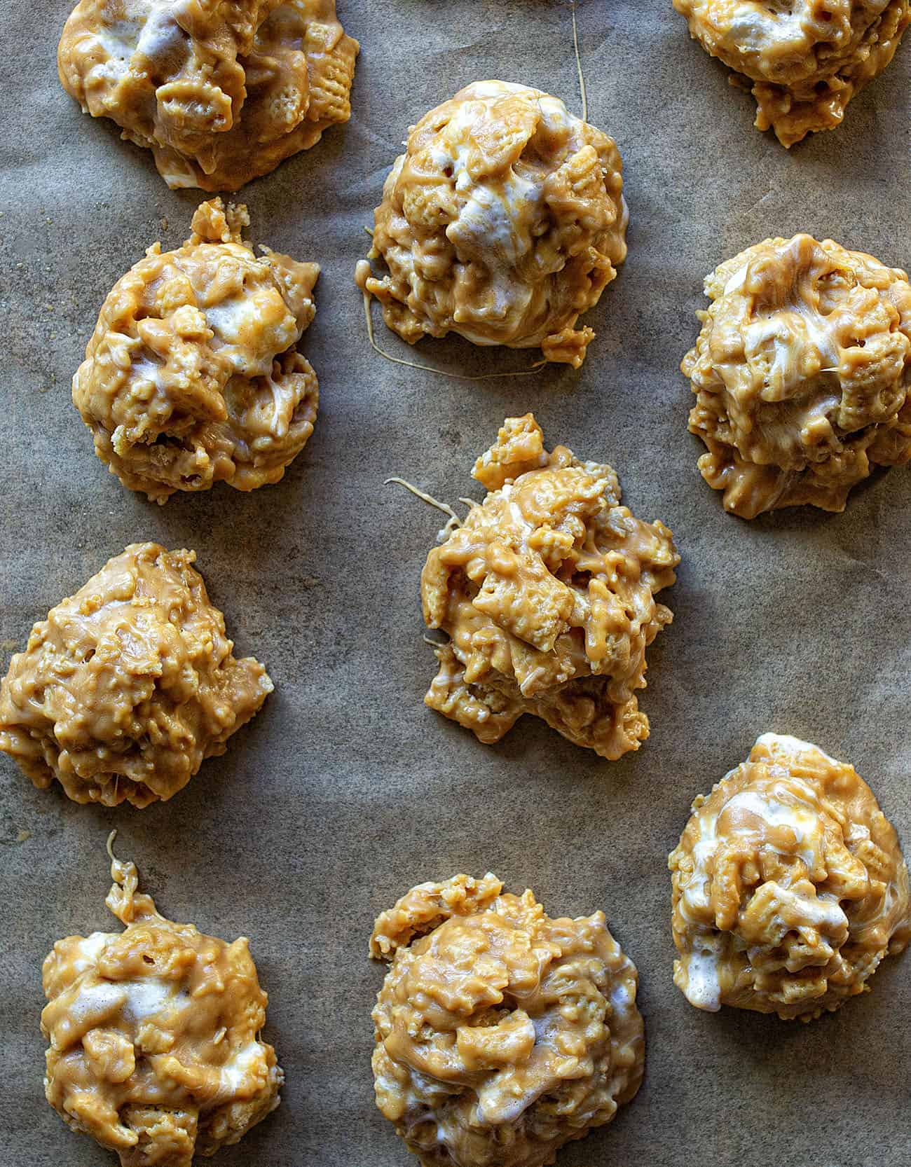 No-Bake Special K Cookies on a Cookie Sheet