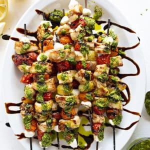Chicken Caprese Kebabs