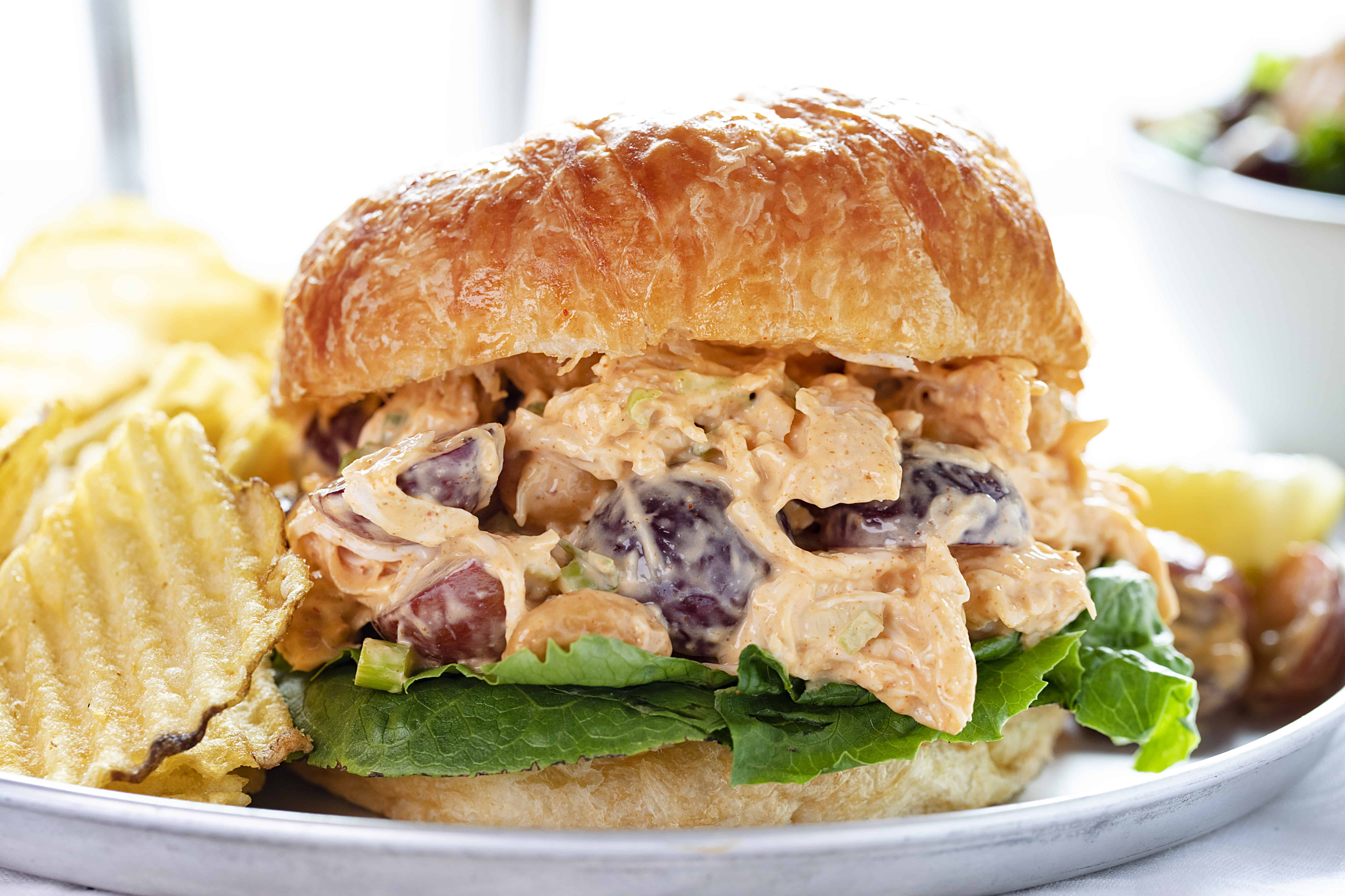 Chicken Salad Recipe on a Croissant