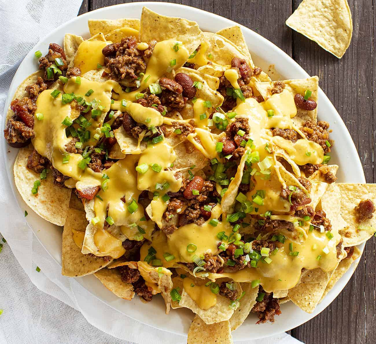 Plating Chili Cheese Nachos