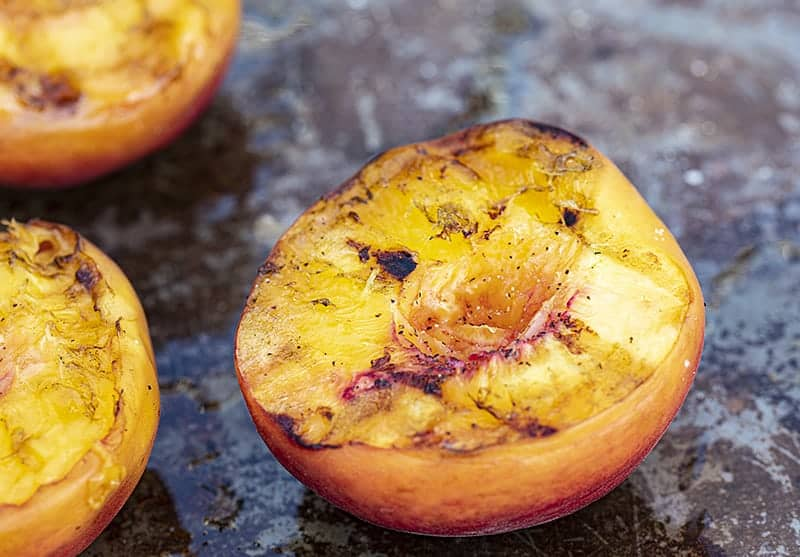 Perfectly Grill Peaches for Grilled Peaches with Mascarpone and Balsamic Reduction
