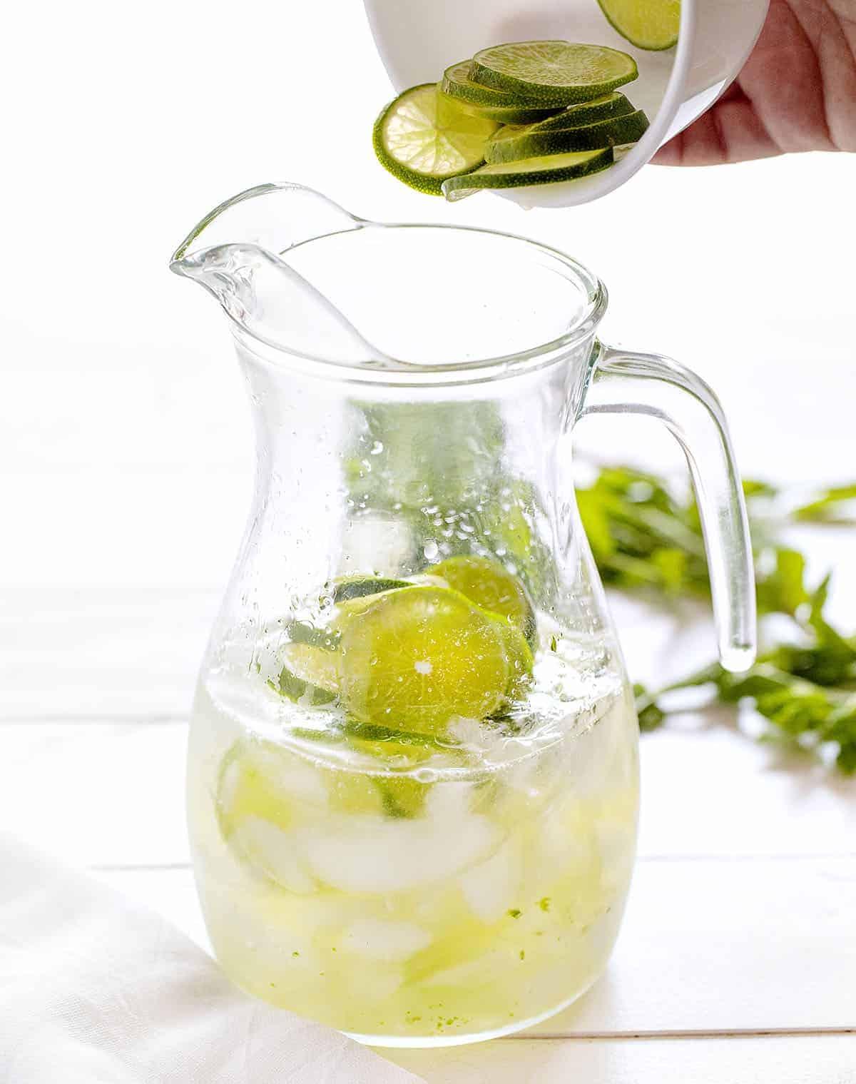 Adding Limes to Mojito Sangria
