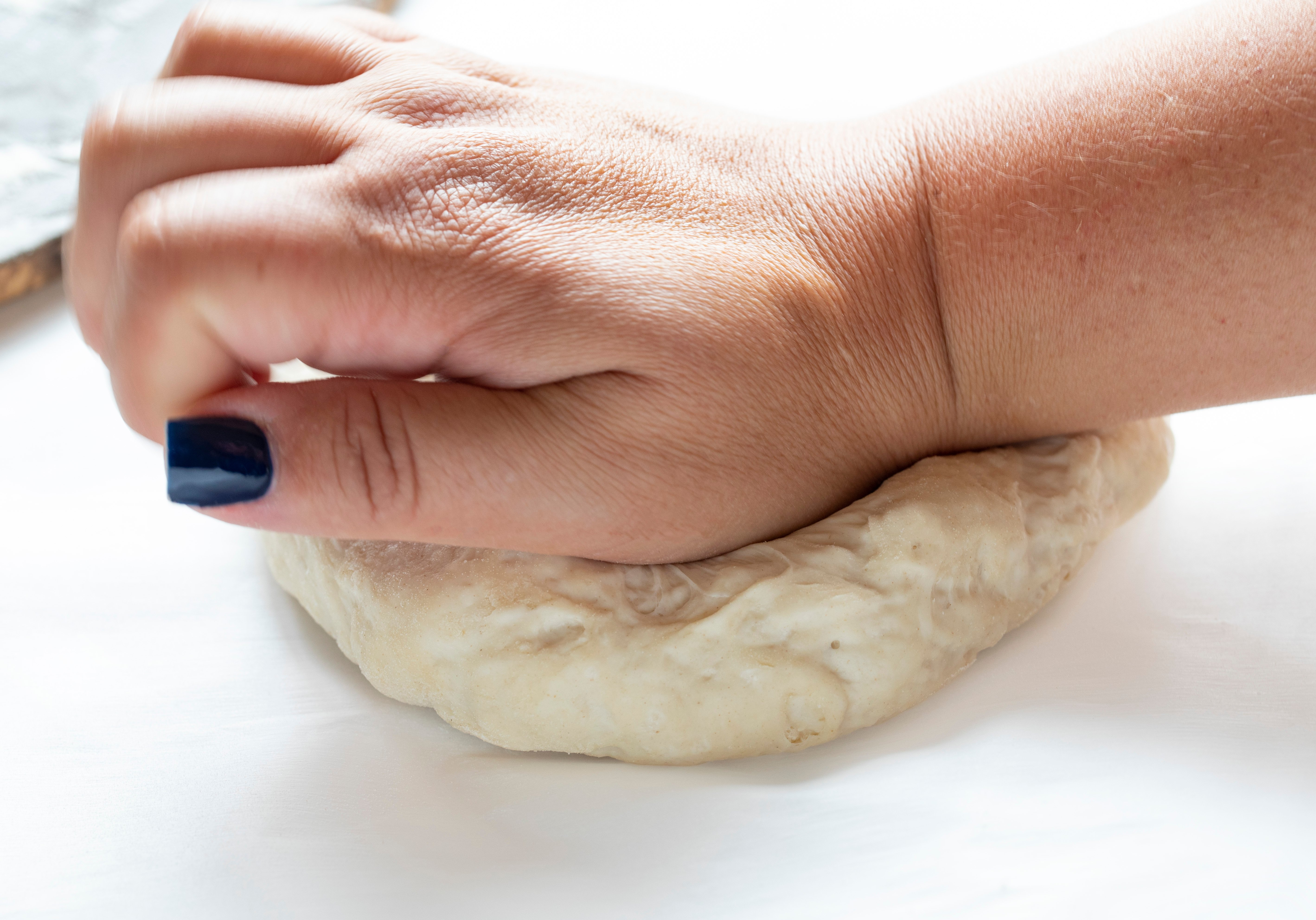 Quick and easy from scratch thin crust pizza dough