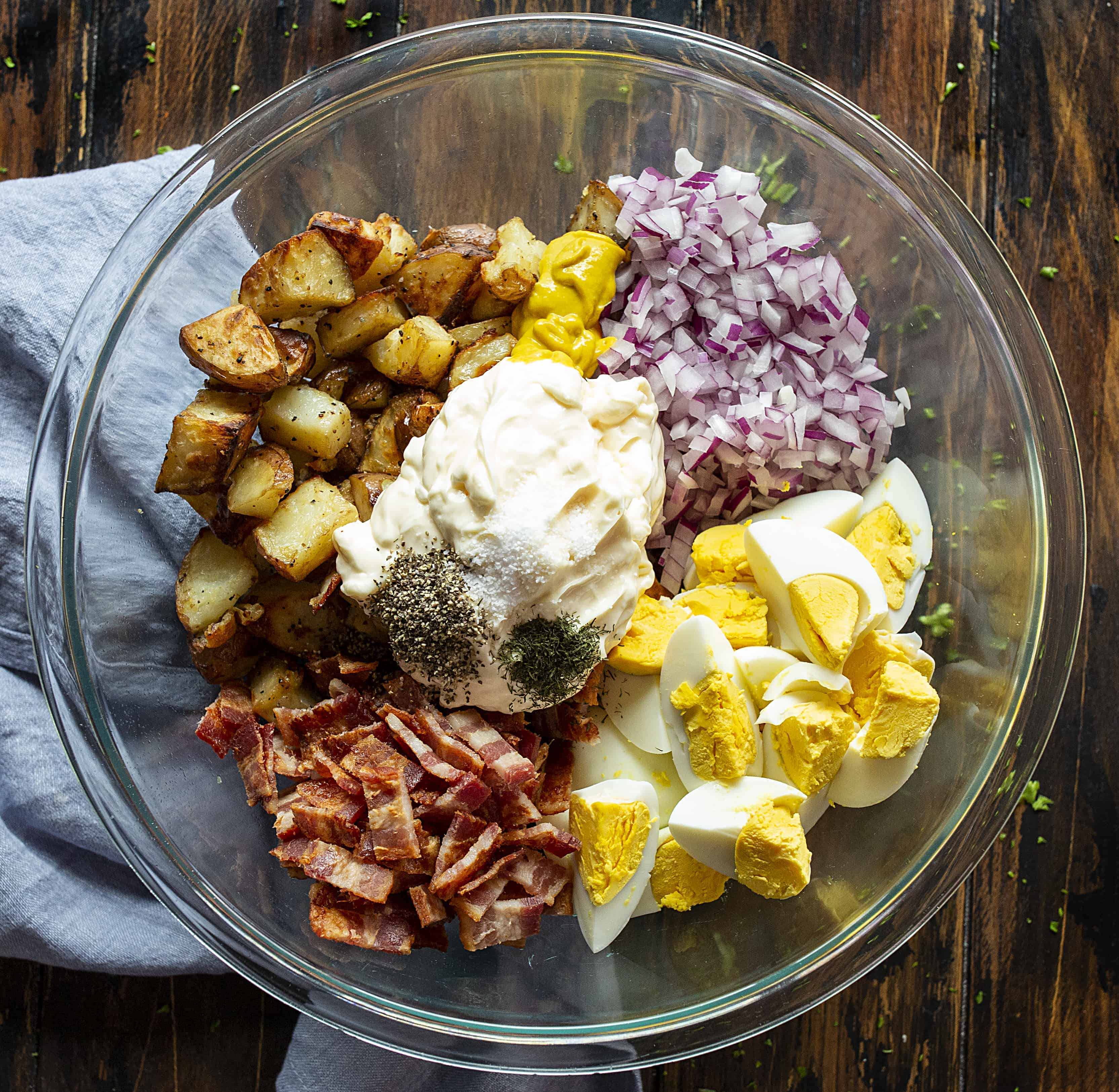 Ingredients for Roasted Potato Salad