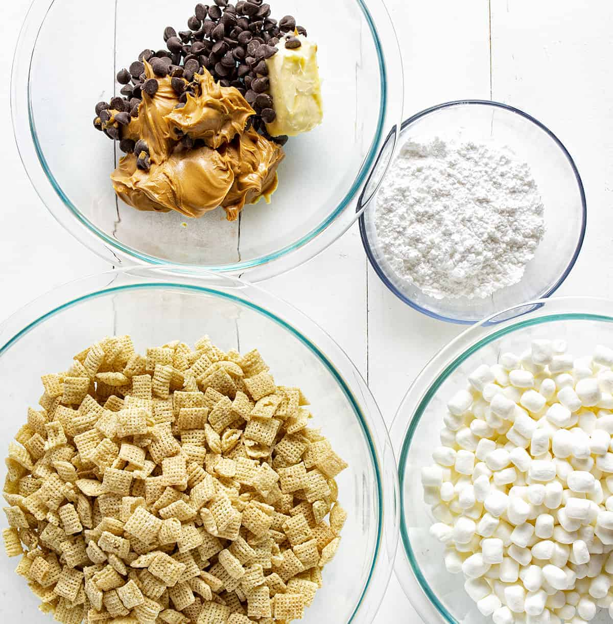 Ingredients for Puppy Chow Bars