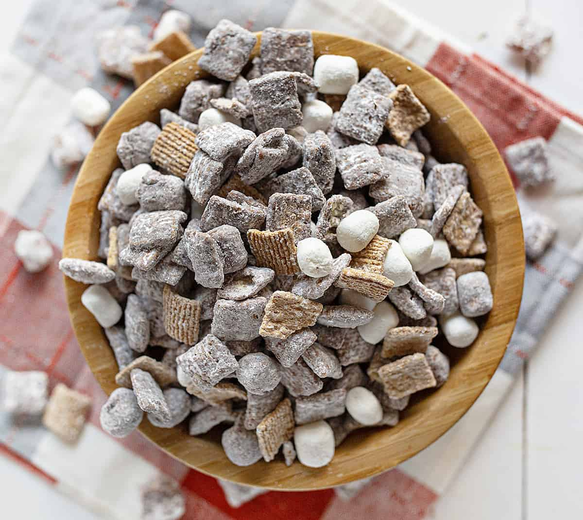 Smore's Puppy Chow Recipe in a Bowl