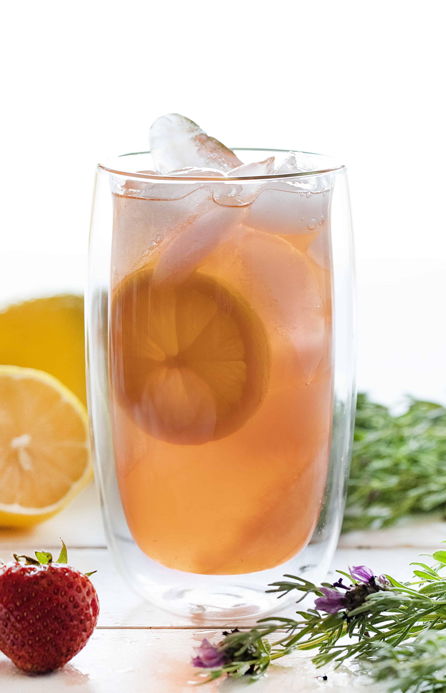 The Best Strawberry Lavender Vodka Lemonade