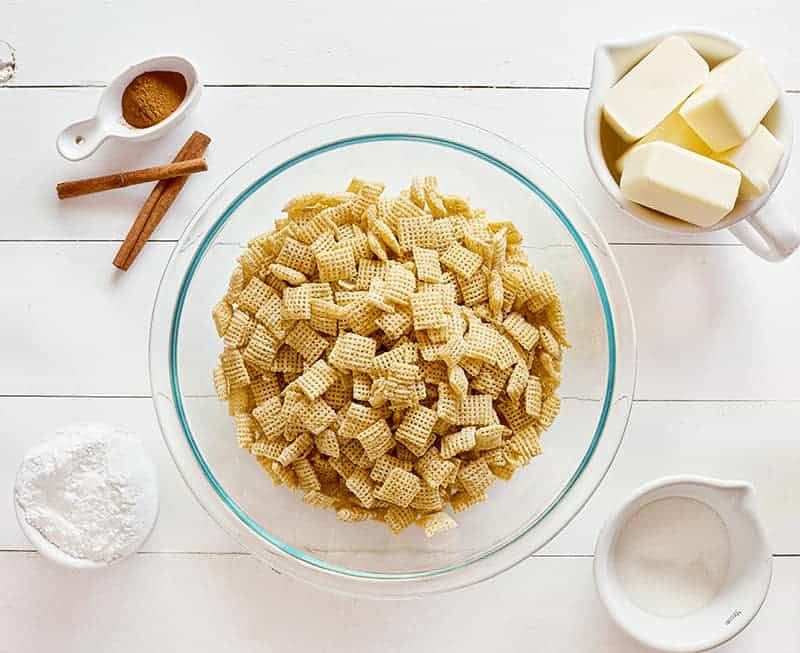 Ingredients for Snickerdoodle Puppy Chow
