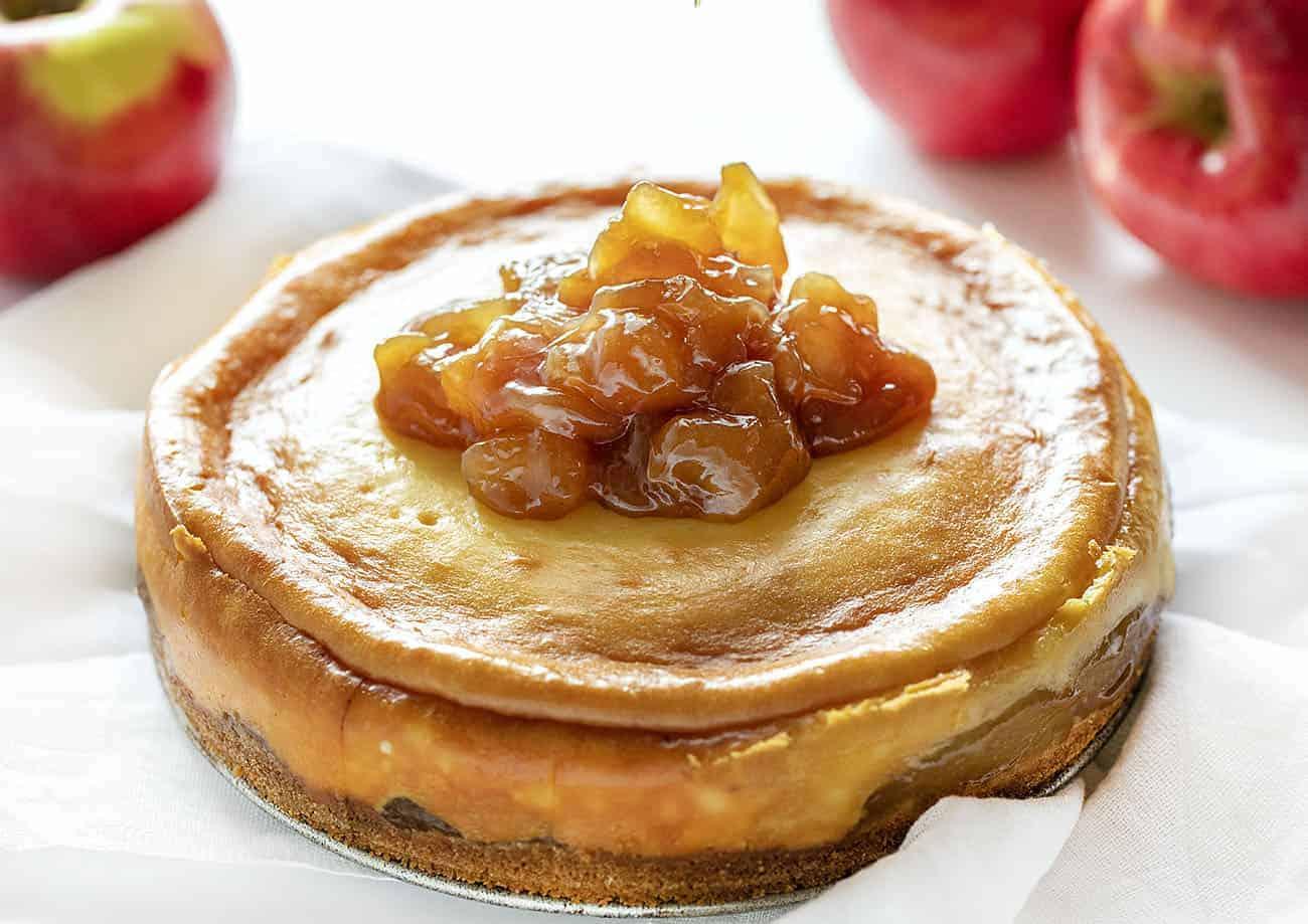 Adding Apples to Caramel Apple Cheesecake