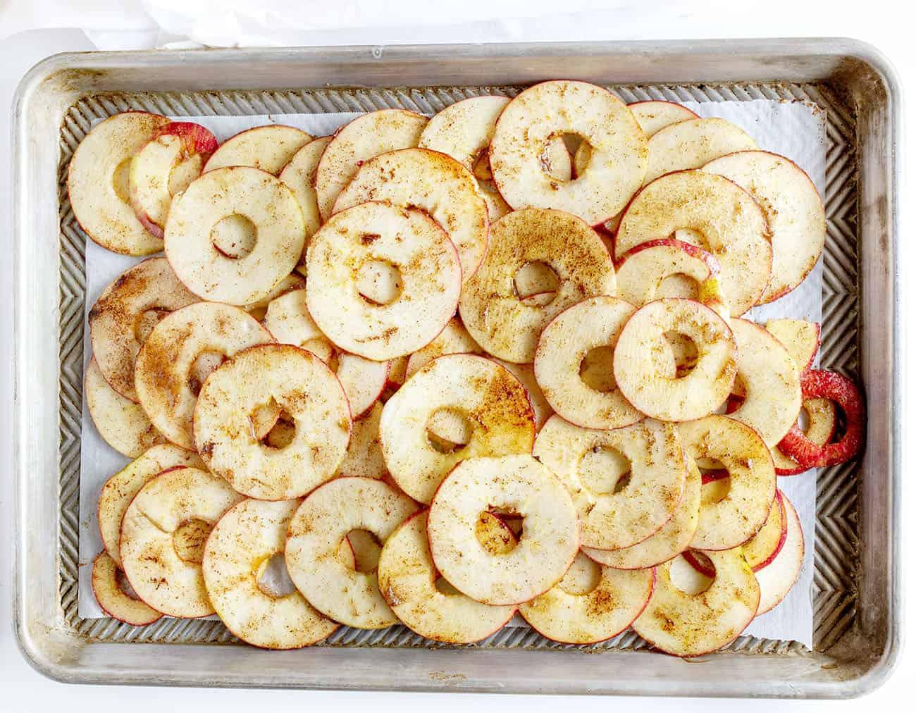 Spiced Apples Unbaked for Homemade Apple Galette