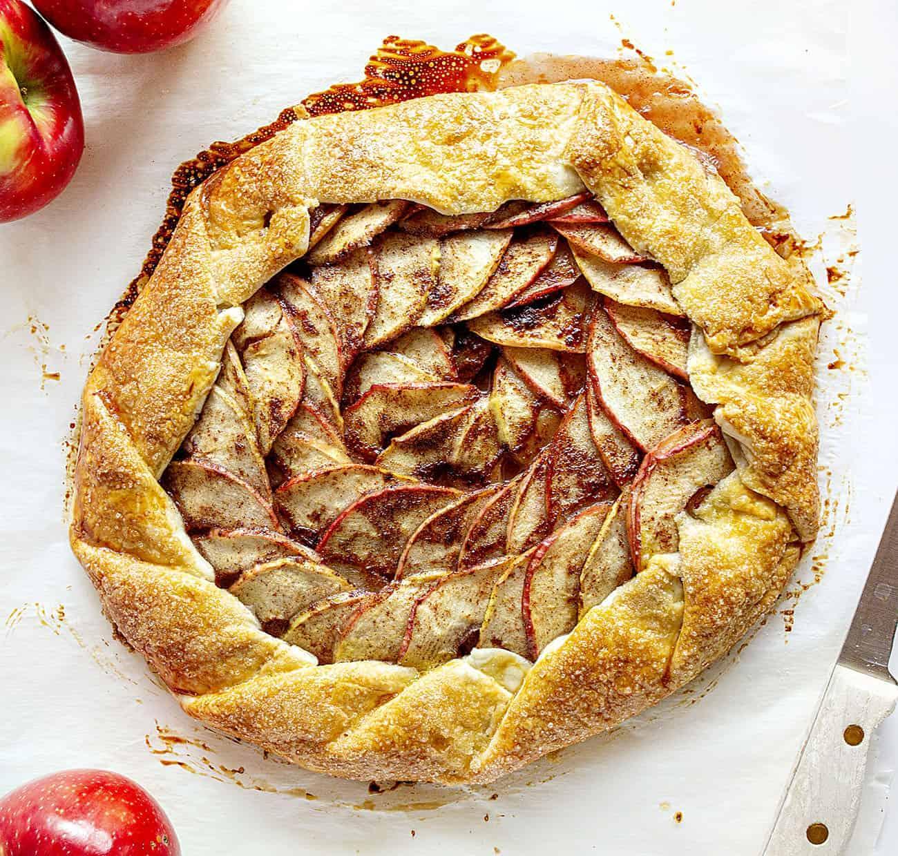 Baked Homemade Homemade Apple Galette