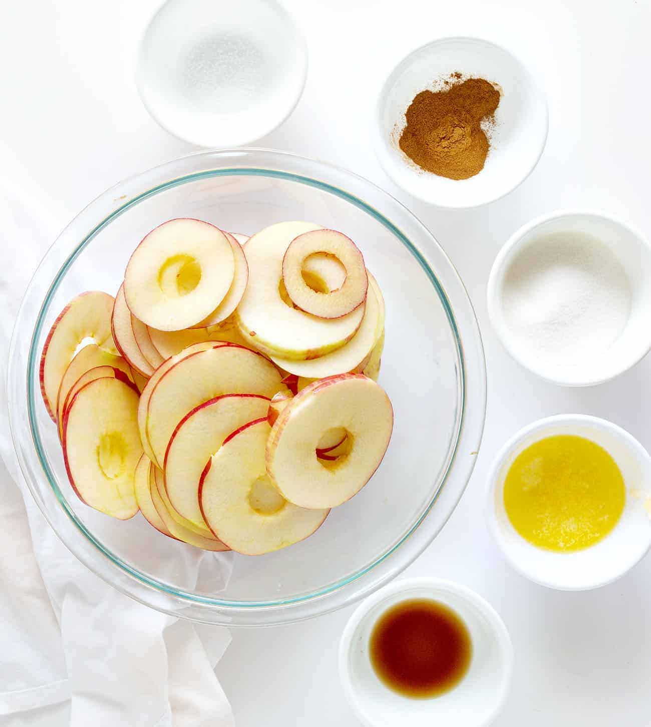 Ingredients for Homemade Apple Galette