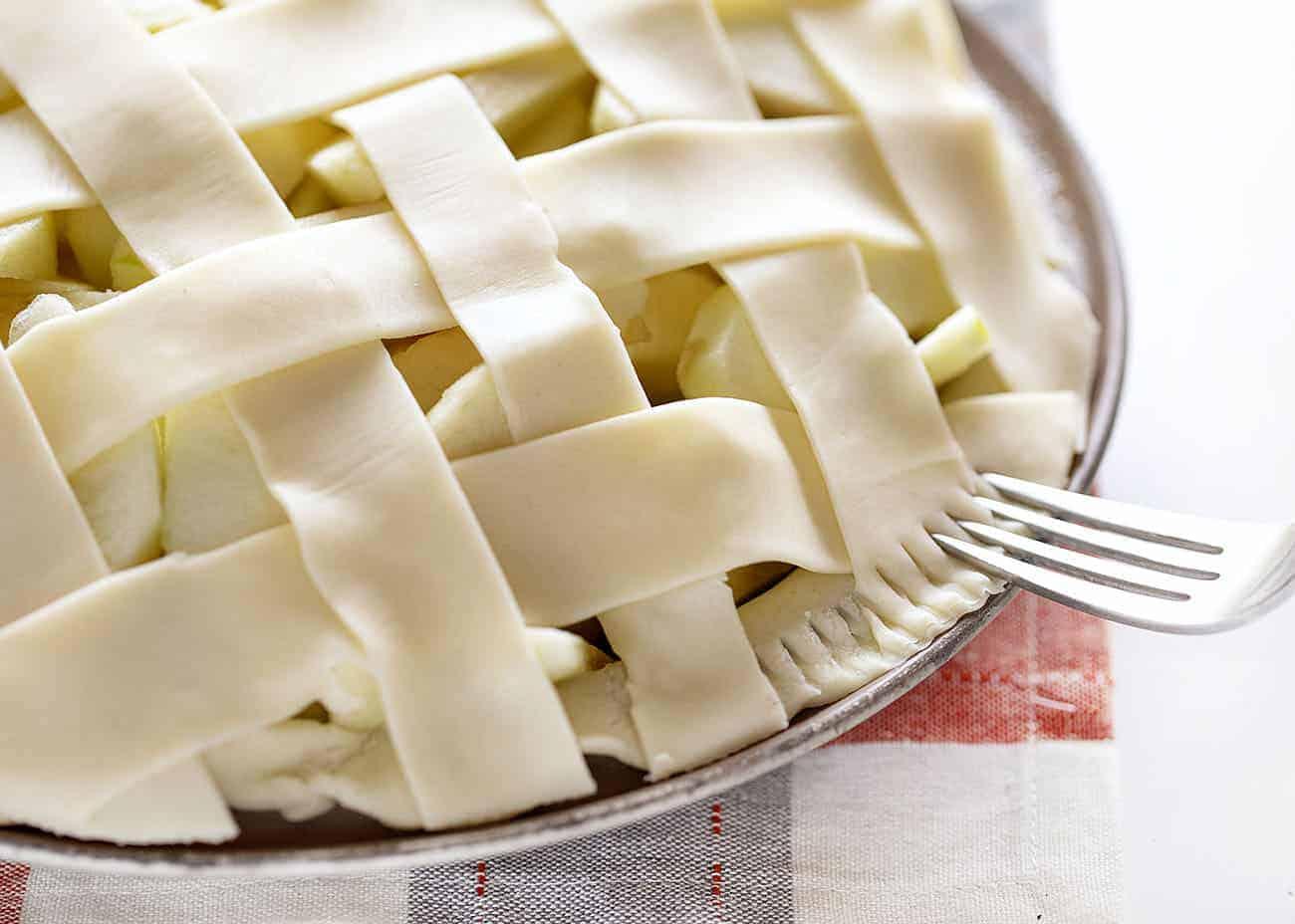 Crust Detail on an Apple Pie