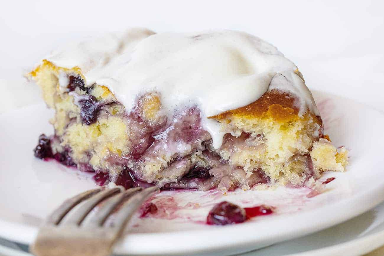 Ooey Gooey Warm Blueberry Lemon Sweet Rolls