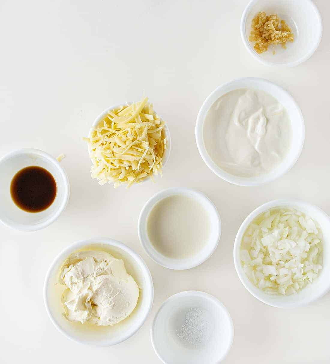 Ingredients for Homemade French Onion Dip