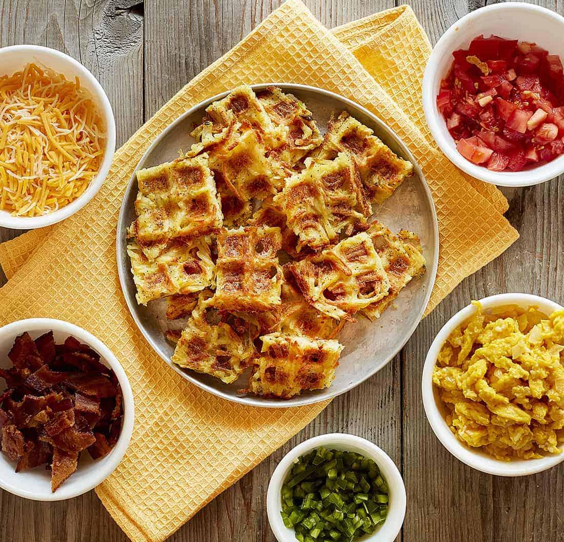 Ingredients for Loaded Hash Brown Breakfast Nachos