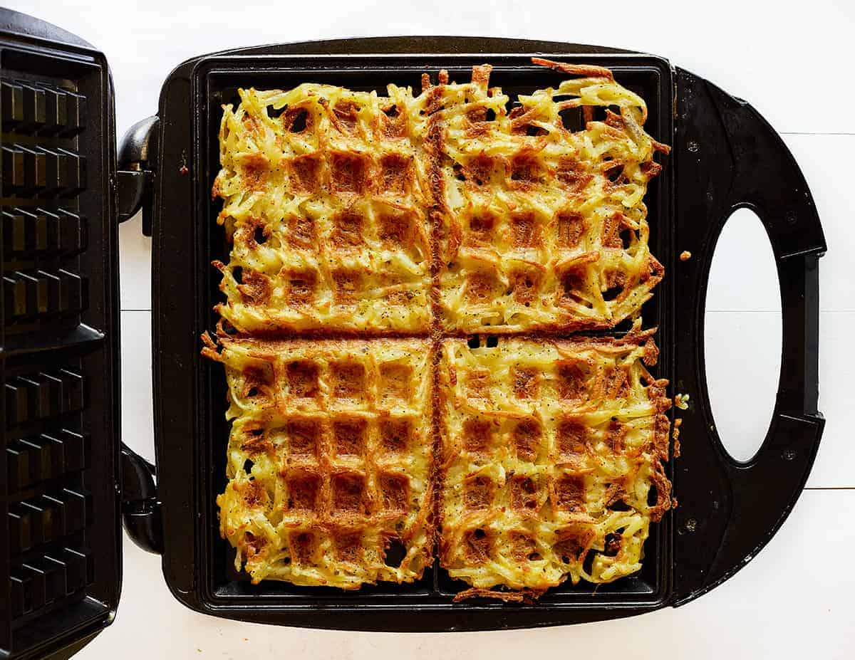 Hash Brown Waffles on the Waffle Iron