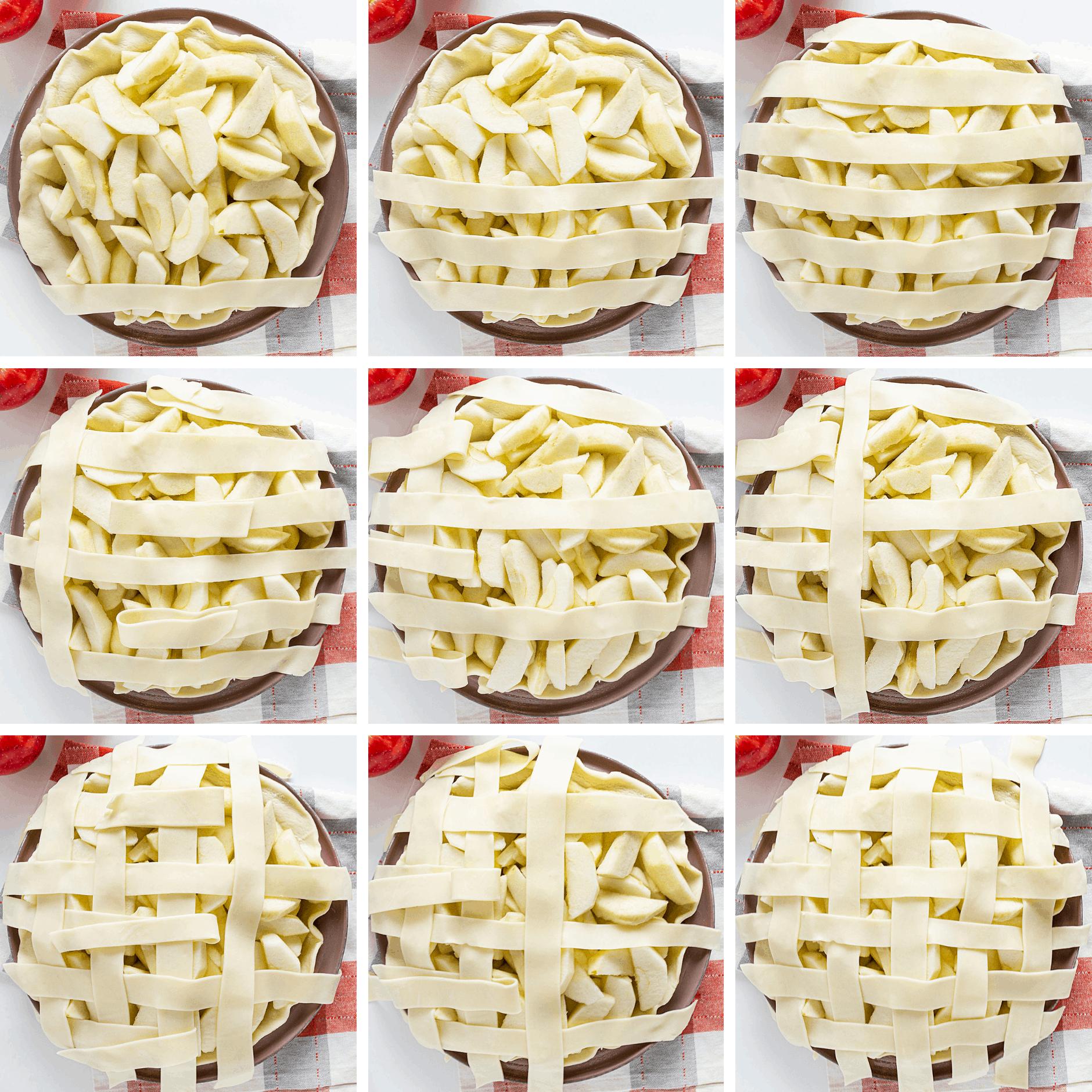 How to Make a Lattice Pie Crust on a Caramel Apple Pie