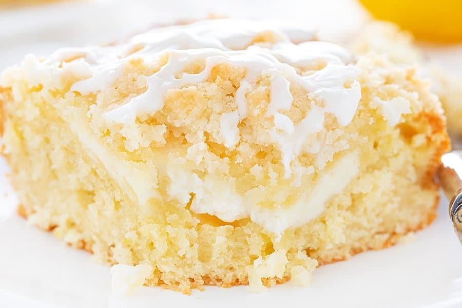 Close up of Lemon Coffee Cake Recipe