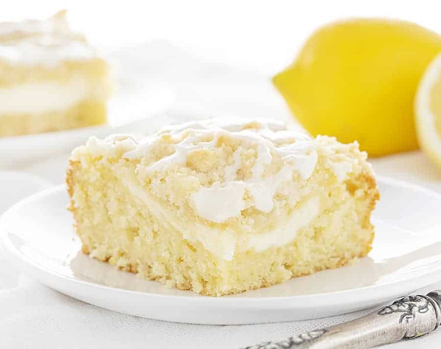Slice of Lemon Cream Cheese Coffee Cake