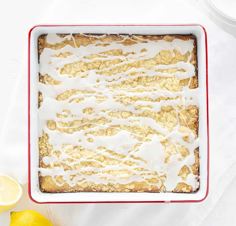 Overhead View of Lemon Coffee Cake