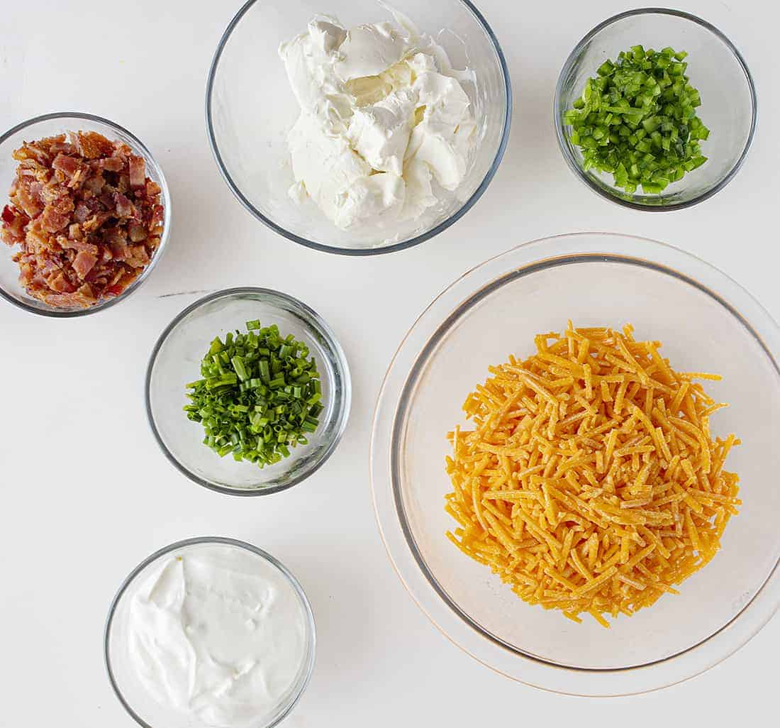 Ingredients for Loaded Potato Dip