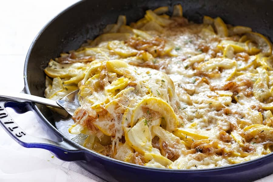 Spoonful of French Onions Zucchini Bake