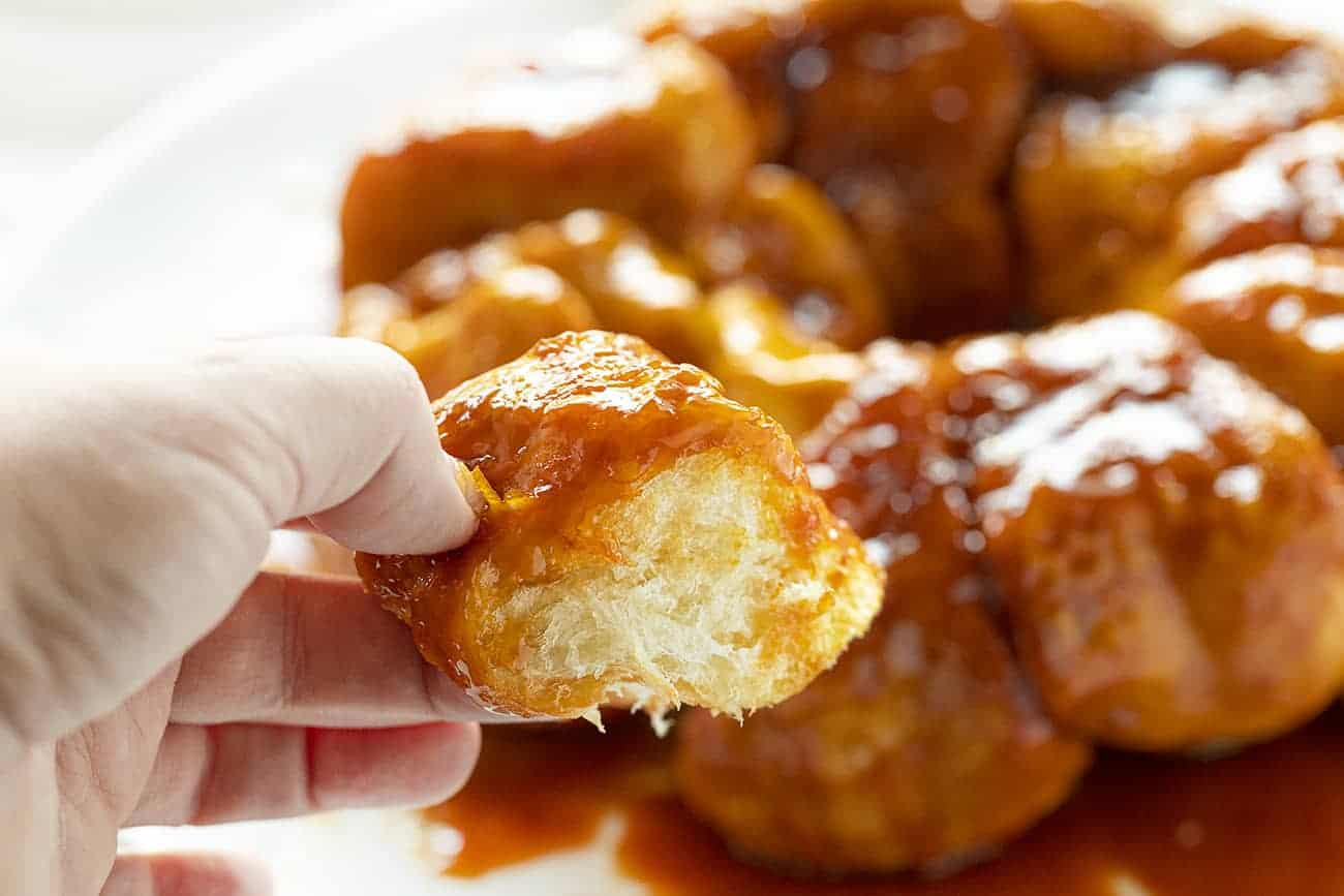 Piece of Orange Monkey Bread