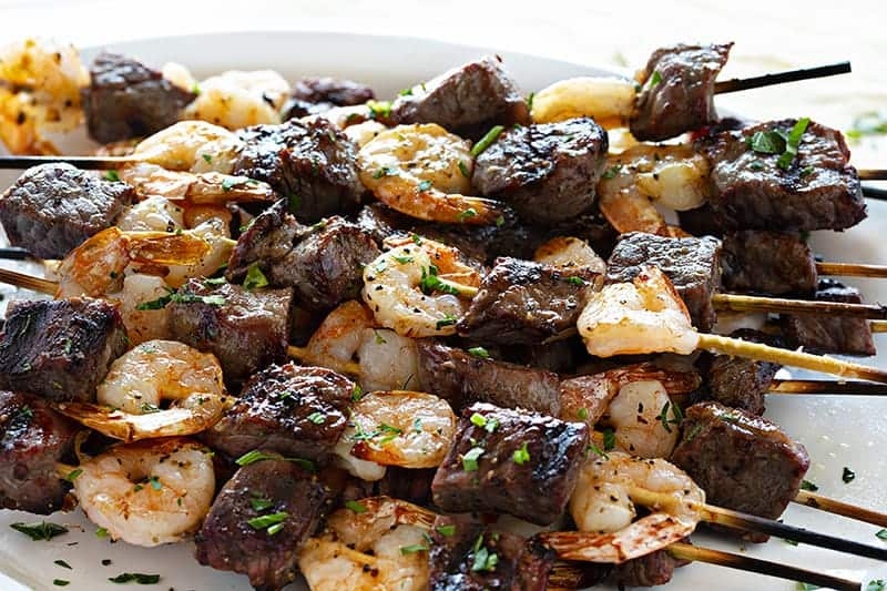 Stacked Surf and Turf Kebabs