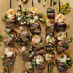 Surf & Turf Chimichurri Kebabs