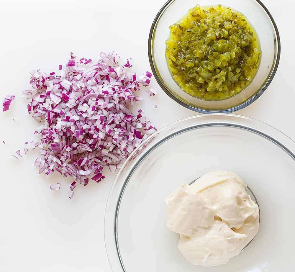 Ingredients for Easy Tartar Sauce