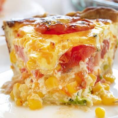Tomato Corn Pie
