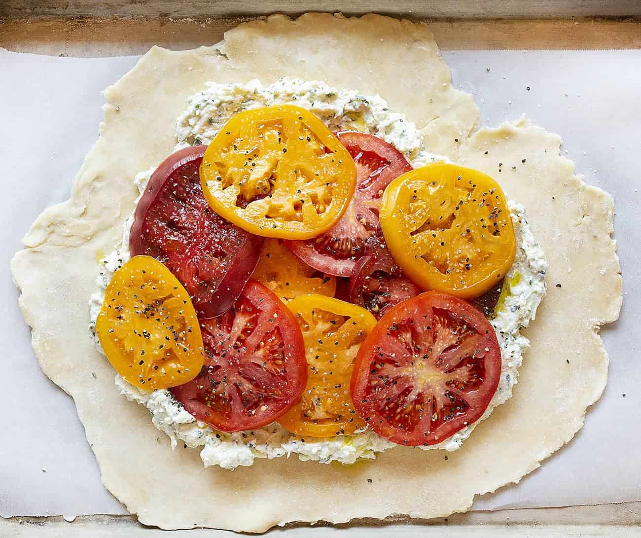 Ingredients When Assembling a Tomato Galette