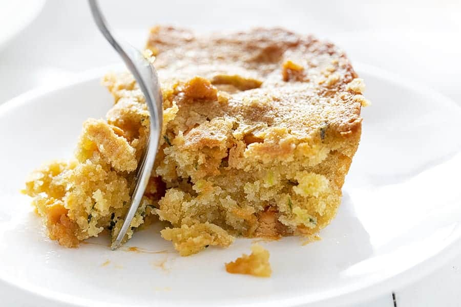 Put a fork in your scrumptious Butterscotch Zucchini Bar, then enjoy!