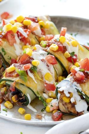 Southwest Zucchini Roll Ups